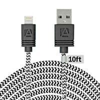 Aduro MFI Certified 10 Foot USB Lightning Charging Cable for iPhone iPad iPods