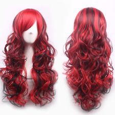 80cm Fashion Sexy Long Wavy Cosplay Marley Wig Red and Black - (WIG 222)