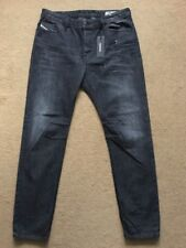 DIESEL Eazee-R RT884 Stretch Boyfriend Cropped Women's Grey Jeans, W28-L34, £160
