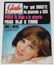 GARBO #808 1968 Gina Lollobrigida Brigitte Bardot Praga Concha Velasco Dalida