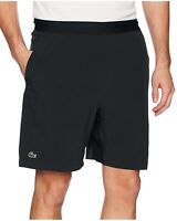 "Lacoste Men's Novak Djokovic Stretch Taffeta 7"" Tennis Shorts Black"