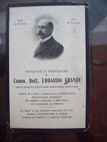1912 SANTINO COMMEMORAZIONE MORTE EDOARDO GRANDI DIRETTORE OSPEDALI DI MILANO