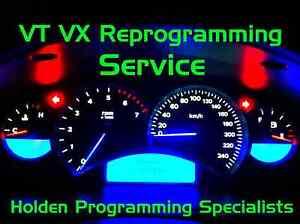 VT VX HOLDEN COMMODORE INSTRUMENT CLUSTER DASH PROGRAMMING SERVICE HSV VY VZ V8