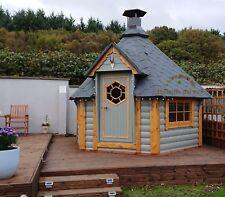 7m² Grillkota BBQ Hut Barbecue Scandinavian Garden house Log Cabin