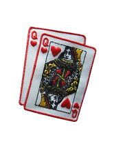 #2792 Poker Card Queen Of Hearts Embroidery Iron On Applique Patch