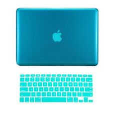 "2 in1 AQUA BLUE Crystal Hard Case for Macbook PRO 15"" A1286 with Keyboard Cover"