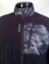 Reebok Jacket Fleece Athletic Track Full Zip Black Men's Size Small