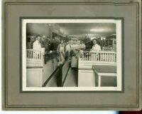 Antique Matted Photo-PELLOS GROCERY Interior Men/Display + KAPLAN Family Man