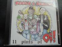 BOOTS  &  BRACES  -    11  PINTS  of  OI,   CD   1998,      ROCK ,  PUNK