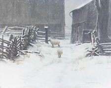 "In for the Evening - Sheep  - Robert Bateman LTD Giclee Canvas size 20"" x 24"""