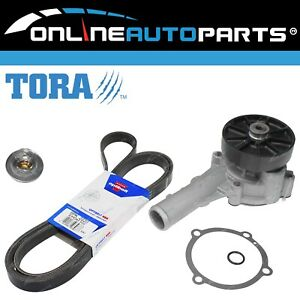 Water Pump Thermostat & Belt Kit suits Ford Territory SX SY SZ 4.0L Engine 04~14