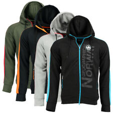 Felpa Garli GEOGRAPHICAL NORWAY Full Zip uomo cappuccio WQ662H-GN