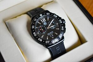 Tag Heuer Formula 1 Chronograph Black Mens Watch With Rubber Strap And Box
