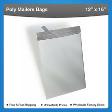 "2000 bags 12"" x 16"" Self-Seal Poly Mailer Bags #904-2000"