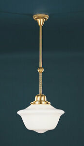 NEW Hudson Valley #15-SB-1615 One Light Edison Collection Pendant Satin Brass