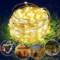 10M Christmas 100Led Solar Power Fairy Light String Lamp Party Xmas Deco Garden