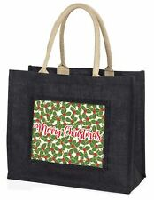 Large Black Shopping Bag Christmas Present Idea      , Christmas1BLB