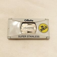 Gillette Super Stainless THE SPOILER Blade pack Vintage Container