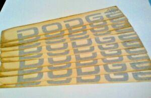 NOS OEM Factory SILVER 1986-2003 Ram Tailgate DODGE Emblem Sticker 5DV73PA5