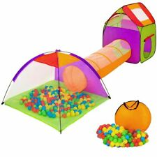 Tenda Igloo per bambini con 200 palline + Tunnel Pieghevole Giochi Salvaspazio