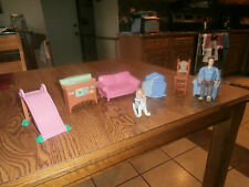Mattel Doll House Furniture for Barbie or Fisher Price House 10 Pieces