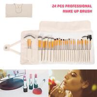 24PCS Trucco Set di Pennelli Make-up Ombretto Eyeliner Pennello Labbra 24X14cm
