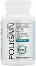 Foligain Anti Gray Hair 60 Capsules | Color Rescue Supplement for Graying Hair
