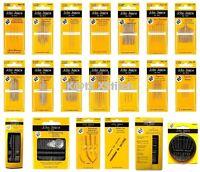 JOHN JAMES HAND SEWING NEEDLES - VARIOUS TYPES / SIZES (Household / Needlecraft)