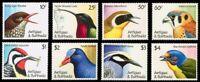 ANTIGUA & BARBUDA ANIMAL CARIBBEAN BIRDS full MNH set (8) 1990 #1350-7 Mi 1424->