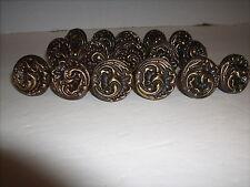 "Vintage Bronze Metal 1 1/4"" Knob Cabinet Drawer Pulls Hardware Lot of 16"