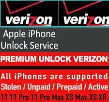 VERIZON USA All Iphone Premium Unlock Service-Blacklist,Blockd,unpaid, finance