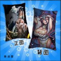 512131 ANIME Overlord Albedo Dakimakura Pillow Case Cover Hugging Body 105CM