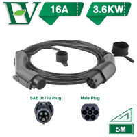 EV Charging Cable 16A Type1 Electric Car Charger 3.6KW 1 Phase EVSE SAE Level2