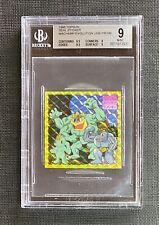 Pokemon BGS 9 1995 Seal Sticker Topsun Machamp Evolution Line Prism Japanese