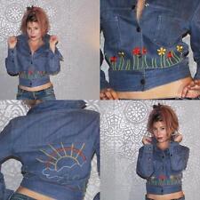 Vintage Retro 1970s embroidered denim Jean jacket