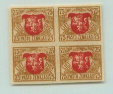 Lithuania 🇱🇹 1919 SC 57 mint, wmk 145, block of 4. rt8058