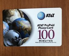 AT&T PrePaid Phone card - 100 minutes verified, unusedbut not In retail pkg.