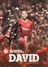 Autogrammkarte 17/18 David Tomic 1.FC Kaiserslautern AK 2017/2018 FCK signiert