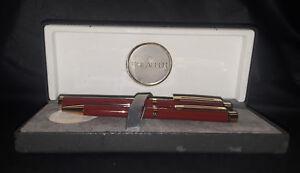 Vintage 14K Sheaffer 1021 Burgundy & Gold Fountain and Ball Pen Set (Brand New!)