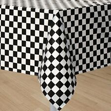 Plastic Table Cover/B&W Check