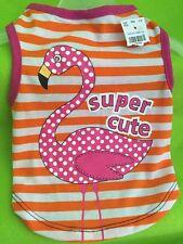 "Dog Shirt-Tank Size Small NWT ""Supper Cute"" hot Pink Flamingo"
