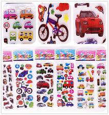 """6 sheets Cheap 3D foam Classic Cartoon Children""""Cartoon car""""Stickers Kids Gift"""