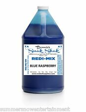 Snow Cone Syrup BLUE RASPBERRY Flavor. 1 GALLON JUG Buy Direct Licensed MFG