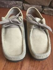Clarks Womens Wallabee Loafers Shoes Tan Suede Size 7