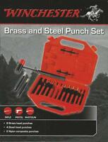 Winchester 15 Piece Brass and Steel Punch Set with Carrying Case