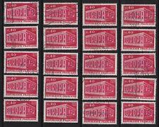 K89* Lot Timbres Oblitérés n°1598 1969 (EUROPA) x20 pour étude