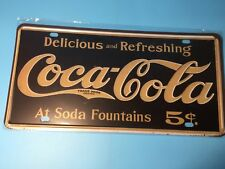 Coca Vintage Metal Car Decorative License Plate United States Home Decor Signs