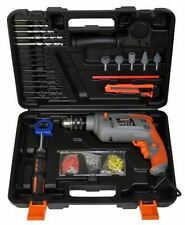 Terratek 500w Electric Hammer Drill With 207pc Set