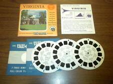 VIRGINIA (VA-1,2,3) Viewmaster 3 reels PACKET SET