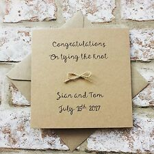 Personalised Handmade Wedding Day Congratulations Card  vintage shabby chic